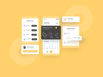 Daily Task app design app design ui design mobile app creativity creative