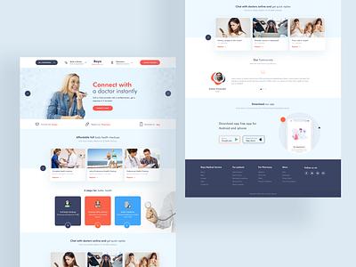 Doctor online service landing page uiux ui ui design design creativity creative