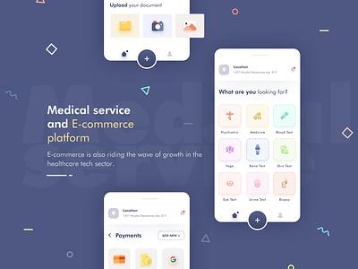 Medical & E-commerce Platform icon art ui app illustration uiux mobile app design ui design creative