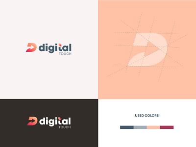 Digital Touch creativity uiux design logos logodesign creative ui deisgn branding logo