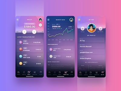 Crypto-Currency icon walletapp wallet stocks flat-design stock-market market bitcoin wallet bitcoin mobile app design uiux ui design creative
