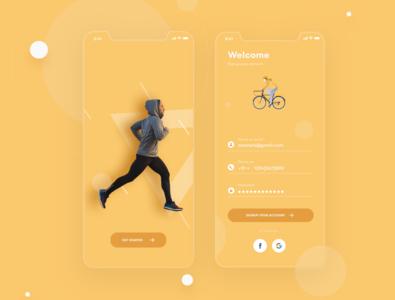 Health app screens