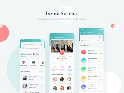 Home Service Overview web app icon typography ux mobile app illustration creativity colorful ux design ui design uiux