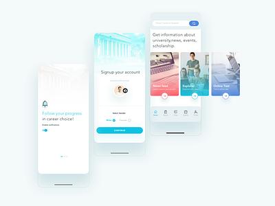 Online Study ux app design ui uiux illustration ui design app logo mobile app creative
