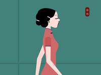 旗袍(qipao)The Chinese dress