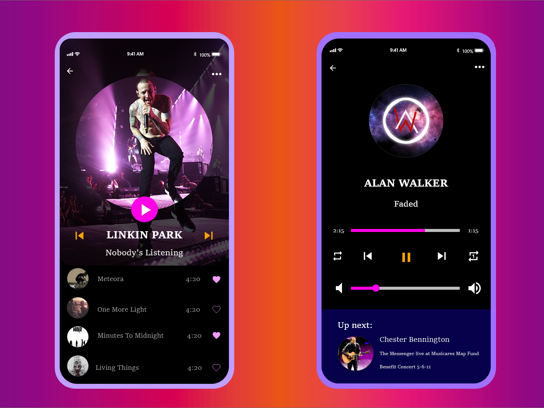 Daily Ui 009 typography singers music player music art music app music 009 daily 100 challenge ui design app illustration design app dailyui