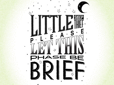 Rhymes - Lettering and Illustration design vector typography stippling illustration flat