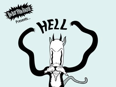 Hell Cats Poster - Gig Poster vintage branding poster art halftone cartoon art typography vector illustration design