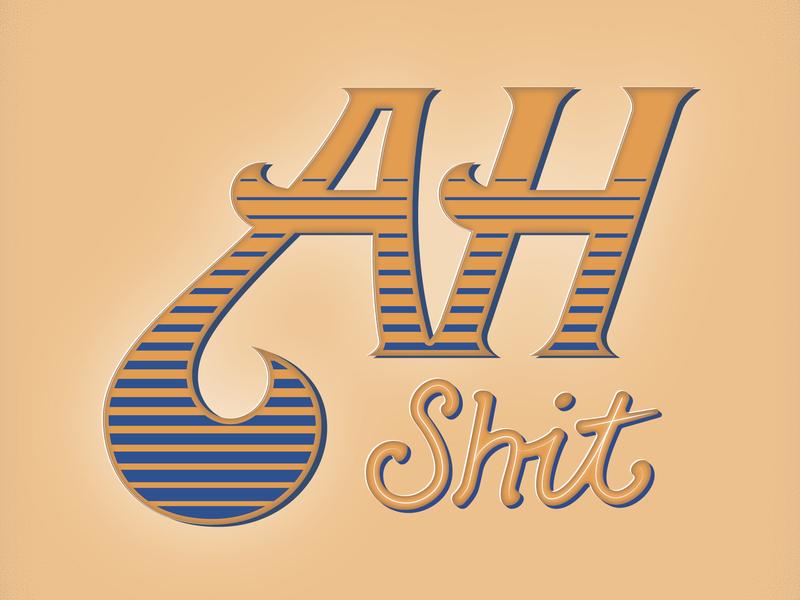 Ah Sh*t! - Britishisms Lettering Project sayings british halftone lettering artist type design vintage hand lettering vector stippling design typography illustration