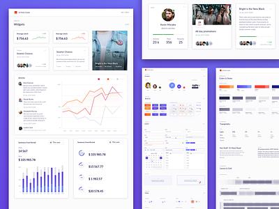 Purple Marketing Platform - Style Guide purple web marketing platform dashboad ux ui atoms ui kit ui component design system