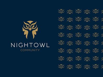 Nightowl custom logo professional logo packaging identity design brand design flat owl nightclub community animal brand vector minimal mark identity design branding logo