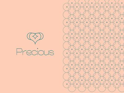 Precious Logo feminine logodesign shop modern trend minimalist jewelry flat brand vector icon minimal mark identity design branding logo