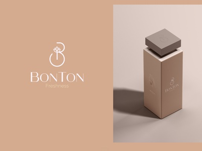 Bonton Branding organic versatile clean warm minimalist logo feminine skincare fresh design cosmic minimalist simple brand symbol vector minimal mark identity branding logo
