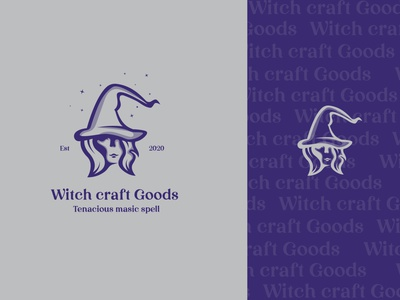 Witch Craft space sketch app logo design goods magic witch crafts shoplogo shop rebranding redesign flat vector minimal mark identity design branding logo