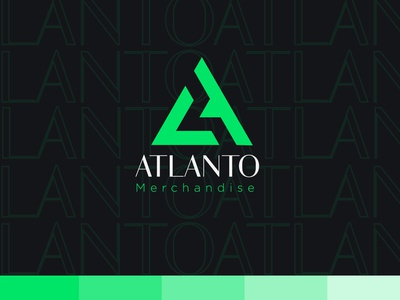 ATLANTO brand logo branding identity minimal minimalist flat ice cream logo icecream modern logo clean design simple logo memorable timeless corporate design fresh design graphic design