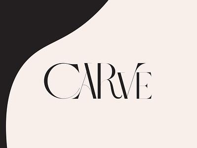 Carve Fashion Brand symbol fashion memorable minimal minimalist modern vector identity branding brand logo simple clean simple logo timeless packaging original hand drawn custom lettering fresh design