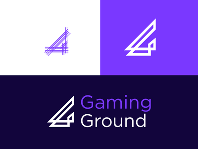 Gaming Ground geometric clean game digital media letters letter typography app logotype symbol identity minimal icon design logo branding