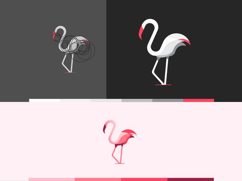 Flamingo minimalist startup business graphicdesign vibrant colorful natural mordern beauty simple mark minimal identity design logo branding brand animal flamingo bird