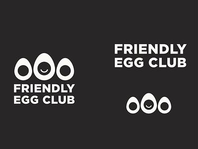 Friendly Egg Club vintage retro friendly egg logoart typography simple logotype mark symbol vector minimal branding logo design