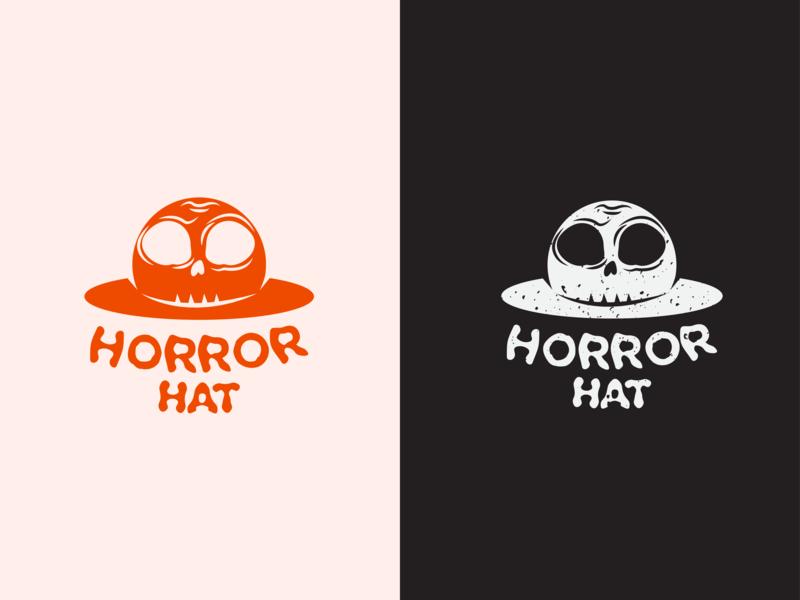Horror Hat texture retro vintage flat type vectorart vectors branding typography hat horror simple vector identity icon design