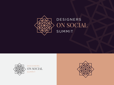 On Social Logo modern abstract geometric social type interior luxurious logotype mark icon identity branding design logo