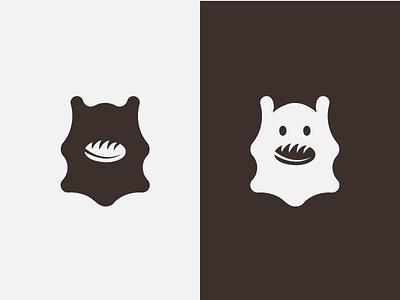 Bear Bread fresh bakery vintage symbol vector minimalist mark illustraion icon geometric flat bear logo design branding bread art animal abstract