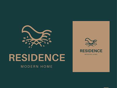 Residence Logo flat animal texture rebrand brand identity brand design modern bird home trademark brand logotype vector symbol mark minimal identity branding logo design