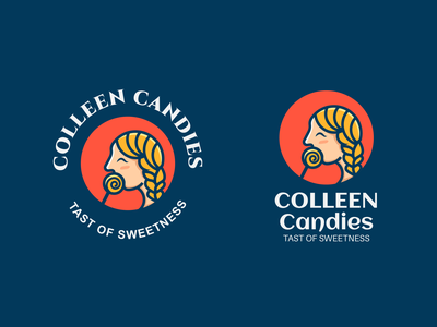 COLLEEN CANDIES typography logo graphics concept restaurant shop sweets girl candy icon minimal mark identity branding