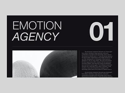 Emotion Agency website concept website minimal typography ux ui design