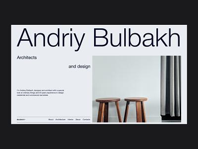 Andiry Bulbakh website concept website ux ui typography minimal design