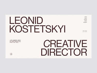 Leonid Kostetskyi Portfolio website website ux ui typography design