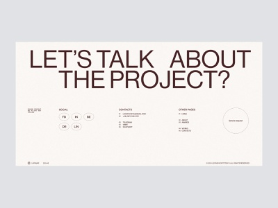 Leonid Kostetskyi Portfolio — Contact page website ux ui typography design