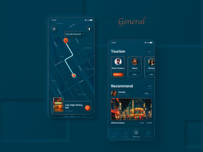 旅行应用程序的软ui风格尝试2 travel app light softui
