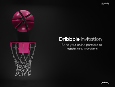Dribbble Invitation dribbble invite dribbble sci-fi logo blender3d concept art blender illustration design 3d