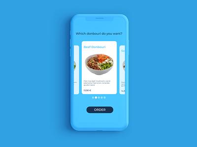Food slider uiux slider food app ui