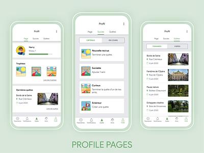 Profile Google Mystery mobile app design mobile ui app mobile green uxui product design ux google design ui