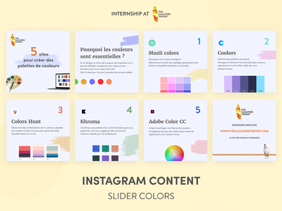 The Cacatoès Theory - Instagram : slider colors slider linkedin post cacatoes palettes color instagram post instagram