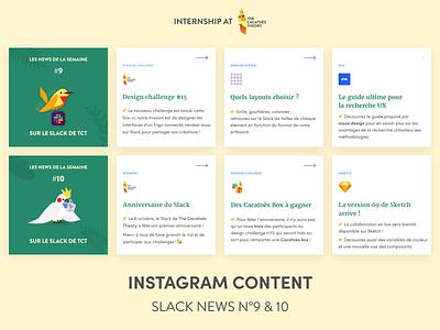 The Cacatoès Theory - Instagram : Slack News social network social media design socialmedia mobile linkedin instagram post cacatoes slider instagram vector figma illustration
