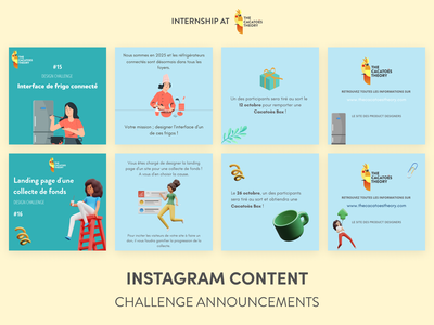 The Cacatoès Theory - Instagram : Design Challenges linkedin cacatoes ui social network social media instagram banner instagram instagram post 3d illustration