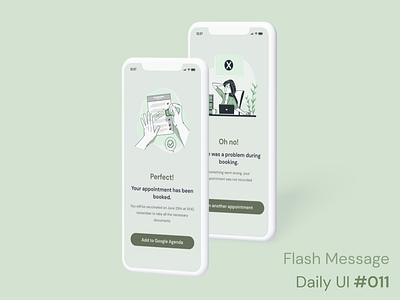 Daily UI 011 - Flash Message error message fail success green figma design ui ux mockup interface challenge 011 daily ui 011 daily ui