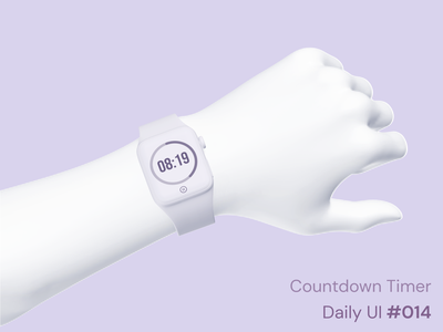 Daily UI 014 - Countdown Timer app apple watch watch mockup 3d design challenge challenge daily ui 014 daily ui timer purple design mockup ui ux product design figma