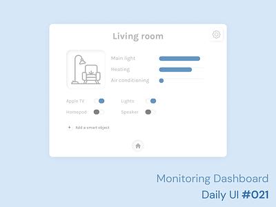 Daily UI 021 - Monitoring Dashboard sign in design challenge daily ui 021 daily ui 021 monitoring dashboard dashboard home monitoring home interface skeuomorphism ske ui ux figma product design