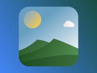 Flat weather app icon