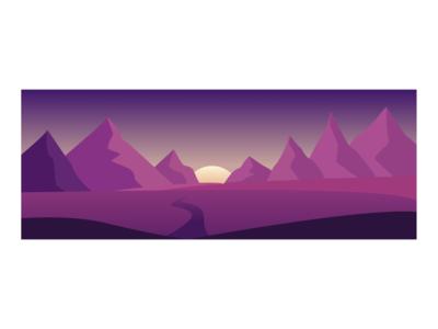 Moutains Landscape | Flat Design illustration