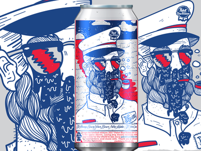 Pabst can art submission illustration pbr drunk sailor beer pabst