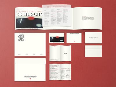 First gala material mockup envelope invite gala museum mockup print
