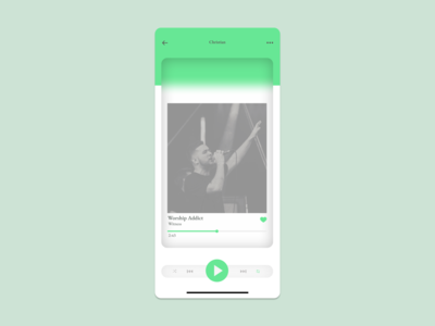 Daily UI :: 009 - Music Player illustrator grid typography app ux minimal ui flat design alignment