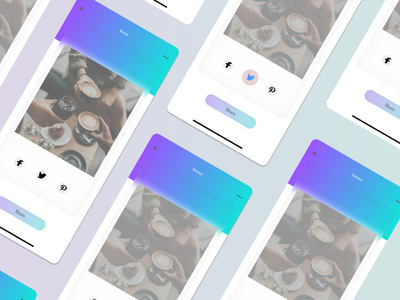Daily UI :: 010 - Social Share illustration typography ux ui grid flat design app alignment