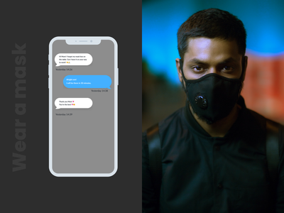 Daily UI :: 013 - Direct Messaging mask chat chatbox messaging app direct messaging messaging application ui application app