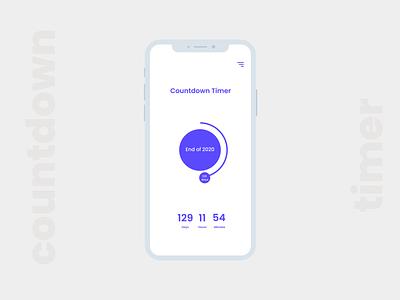 Daily UI :: 014 - Countdown Timer countdown app design mobile app design design application ui application countdowntimer mobile app app